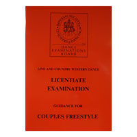 Line & Country Western Licentiate Exam Guide notes for Couples Freestyle