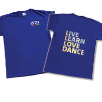 ISTD Childrens T-Shirt, Girls size 7-8