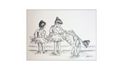 Greeting Cards (black and white drawings) Exclusive £2.00 offer
